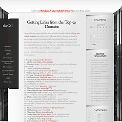 Getting Links from the Top 50 Domains | TheGoogleCache: Search Engine Marke...