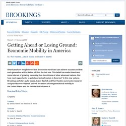 Getting Ahead or Losing Ground: Economic Mobility in America - Brookings