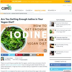 Are You Getting Enough Iodine In Your Vegan Diet?