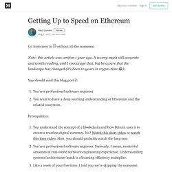 Getting Up to Speed on Ethereum - Matt Condon - Medium