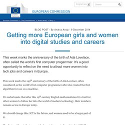 Getting more European girls and women into digital studies and careers