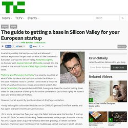 The guide to getting a base in Silicon Valley for your European startup