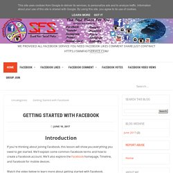 Getting Started with Facebook - Buy Facebook services