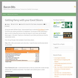 Getting Fancy with your Excel Slicers – Bacon Bits