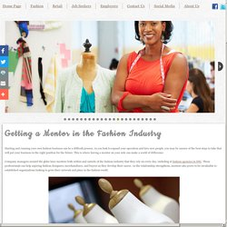 Getting a Mentor in the Fashion Industry
