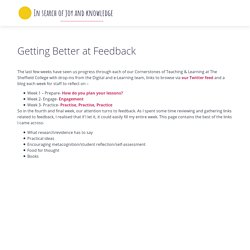 Getting Better at Feedback – In search of joy and knowledge
