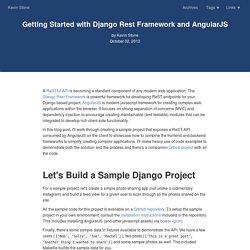 Getting Started with Django Rest Framework and AngularJS
