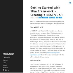 Getting Started with Slim Framework - Creating a RESTful API · Chris Diana