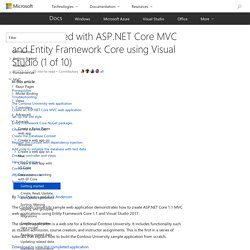 Getting started with ASP.NET Core MVC and Entity Framework Core using Visual Studio