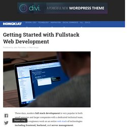Getting Started with Fullstack Web Development