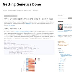 Getting Genetics Done: R User Group Recap: Heatmaps and Using the caret Package