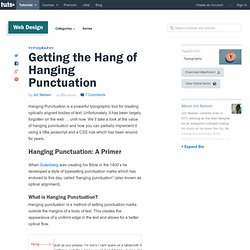 Getting the Hang of Hanging Punctuation