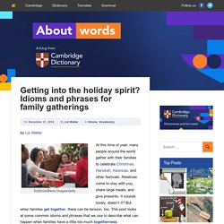 Getting into the holiday spirit? Idioms and phrases for family gatherings