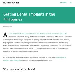 Getting Dental Implants in the Philippines