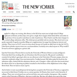 Getting In - The New Yorker