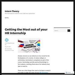 Getting the Most out of your HR Internship