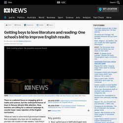 Getting boys to love literature and reading: One school's bid to improve English results