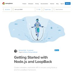Getting Started with Node.js and LoopBack - Semaphore