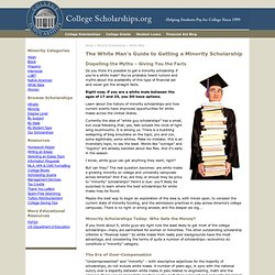 The White Man's Guide to Getting a Minority Scholarship