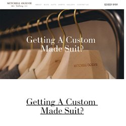 Getting A Custom Made Suit?