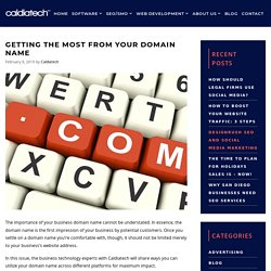 Getting The Most From Your Domain Name