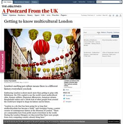 Getting to know multicultural London