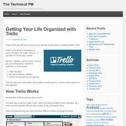 Getting Your Life Organized with Trello