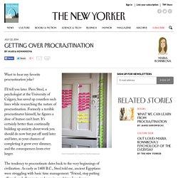 Getting Over Procrastination
