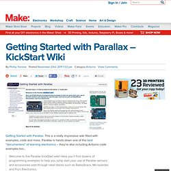 Getting Started with Parallax – KickStart Wiki