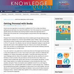 Getting Personal with Books