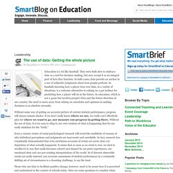 The use of data: Getting the whole picture SmartBlogs