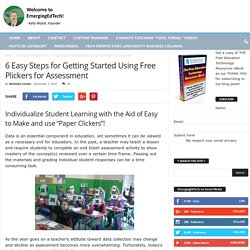6 Easy Steps for Getting Started Using Free Plickers for Assessment