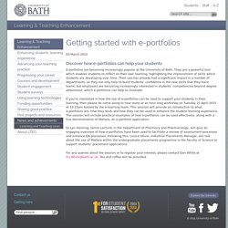 Getting started with e-portfolios
