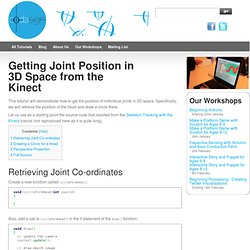 Getting Joint Position in 3D Space from the Kinect - Learning