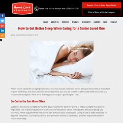 Tips for Getting Better Quality Sleep as a Caregiver