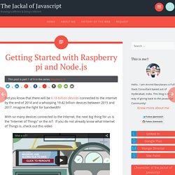 Getting Started with Raspberry pi and Node.js
