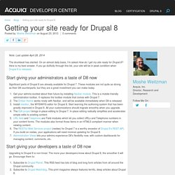 Getting your site ready for Drupal 8