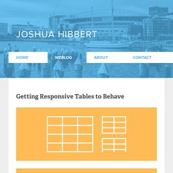 Getting Responsive Tables to Behave
