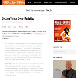 Getting Things Done: Revisited