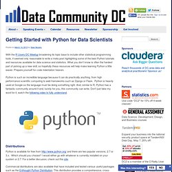 Getting Started with Python for Data Scientists