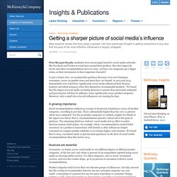 Getting a sharper picture of social media's influence