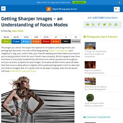 Getting Sharper Images - an Understanding of Focus Modes