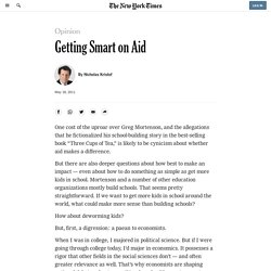Getting Smart on Aid