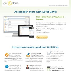 Get It Done App | Getting Things Done GTD software, task manager, and to-do list, and project management.