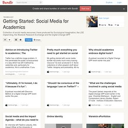Getting Started: Social Media for Academics