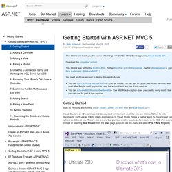 Getting Started with ASP.NET MVC 5