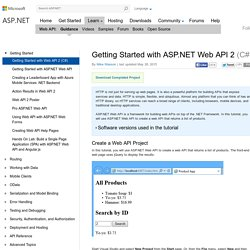 Getting Started with Web API 2