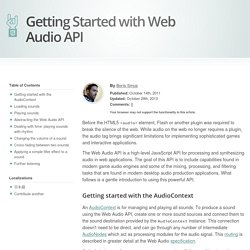 HTML5 Rocks - Getting Started with Web Audio API