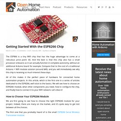 Getting Started With the ESP8266 Chip - Open Home Automation