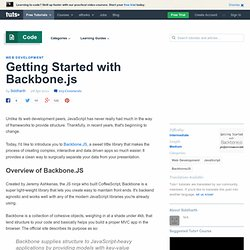 Getting Started with Backbone.js